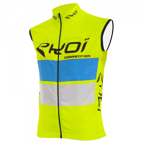 EKOI COMP10 yellow, blue and white windproof gilet