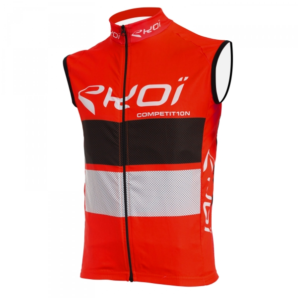 EKOI COMP10 red, black and white windproof gilet
