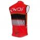 Camisola corta-vento EKOI COMP10 Vermelho preto branco