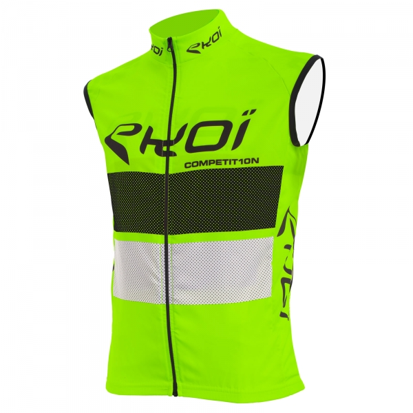 EKOI COMP10 green, black and white windproof gilet