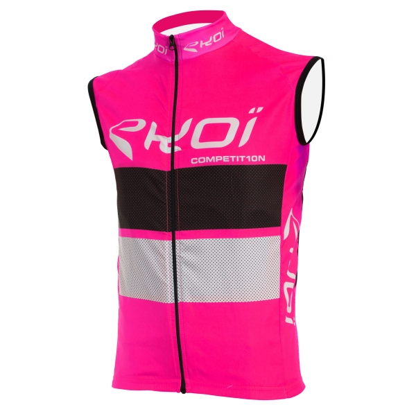 Větrová vesta EKOI COMP10, růžová-černá-bílá