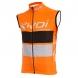 Gilet anti vento EKOI COMP10 Arancione nero bianco