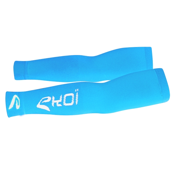 EKOI Optimal Pro Blue & White Arm Warmers