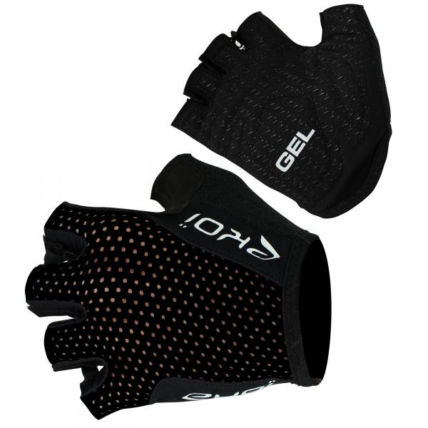 EKOI COMP10 black Gel short-fingered cycling gloves