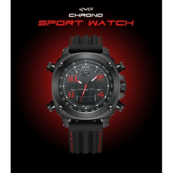 Montre EKOI Chrono Sport Watch