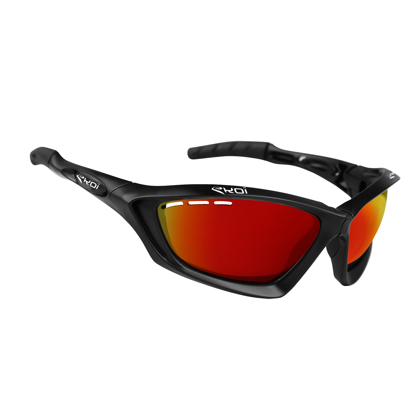 Sunglasses With Red Lenses  ekoi fit first matt black sunglasses revo red lens