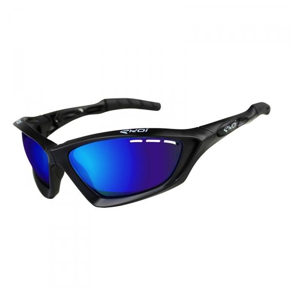 Okulary EKOI Fit First czarny mat Revo, szkła niebieskie