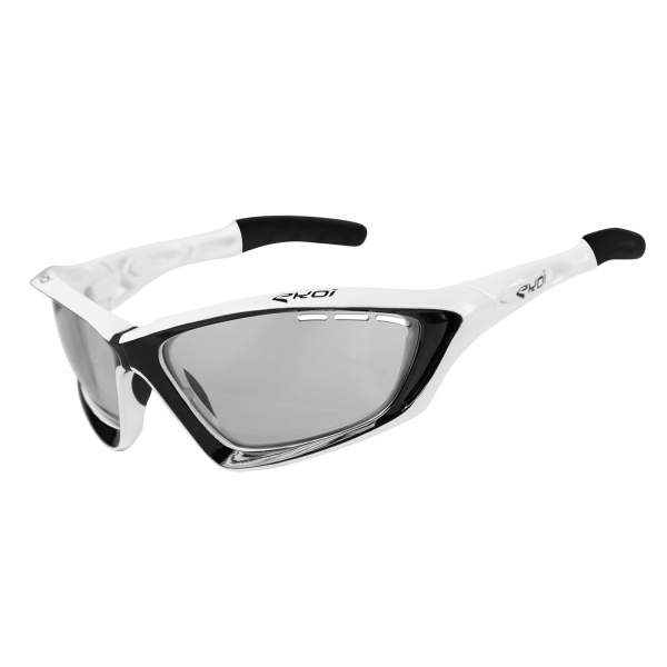EKOI Fit First limited edition black & white sunglasses grey Cat 1-2 photochromic lens