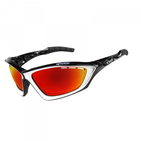 EKOI Fit First limited edition black & white sunglasses Revo red lens