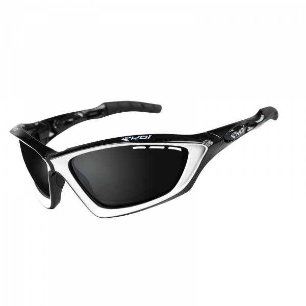EKOI Fit First limited edition black & white sunglasses mirror lens