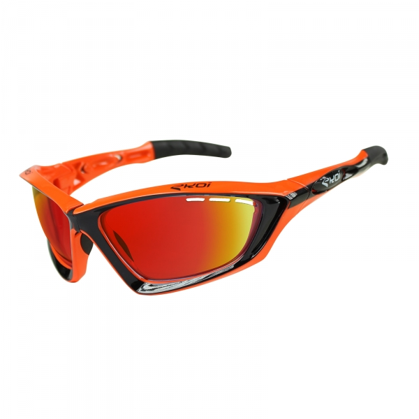 EKOI Fit First limited edition black & orange sunglasses Revo red lens