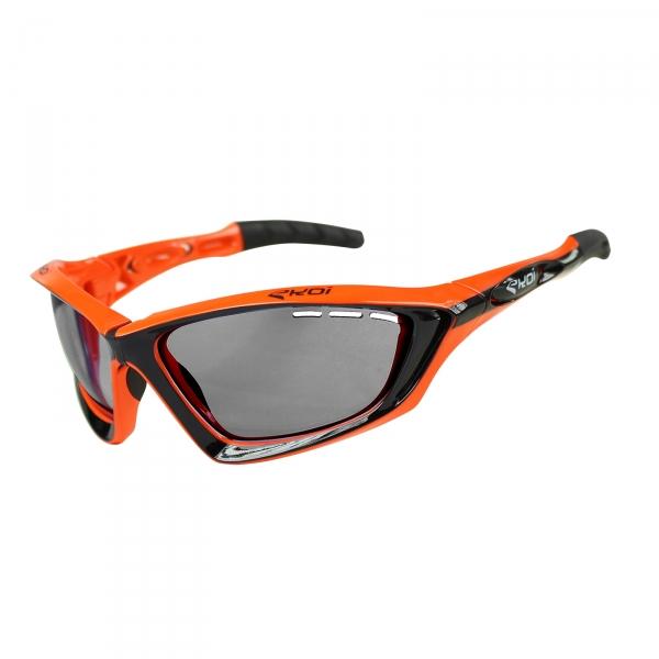 Okulary Fit First EKOI Czarno-pomarańczowe PH Szare Kat.1-3