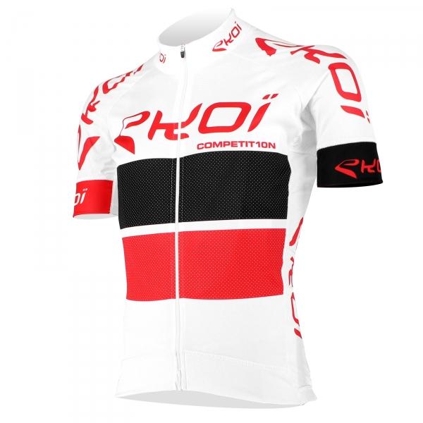 Camisola EKOI COMP10 Branco Preto Vermelho