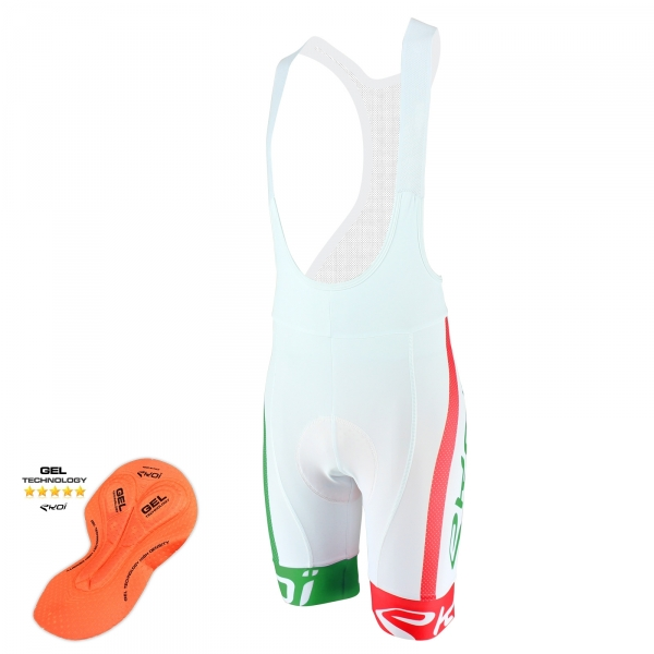Cuissard EKOI COMP10 GEL BREATH Blanc Vert Rouge