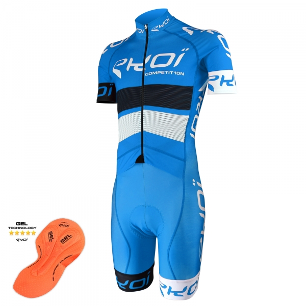 Cykeldragt EKOI COMP10 Gel, Blå, Sort, Hvid