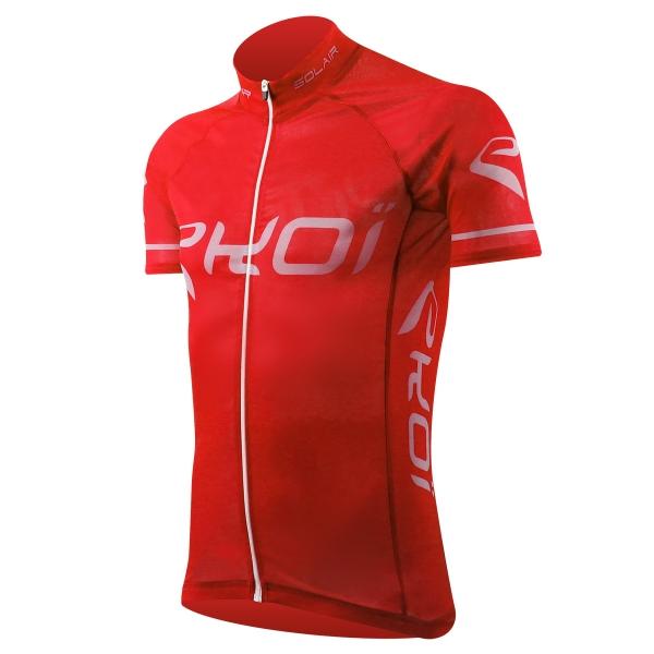 Solgennemtrængelig cykeltrøje EKOI SOLAIR i rød