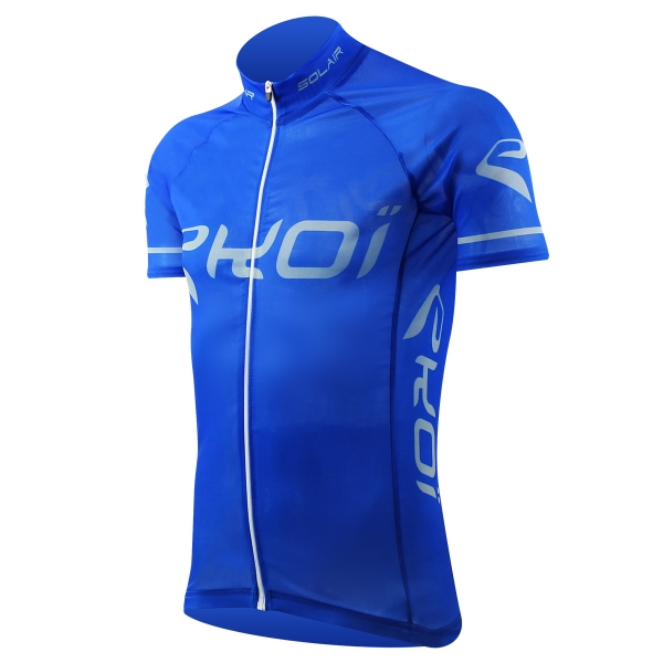 Solgennemtrængelig cykeltrøje EKOI SOLAIR i blå