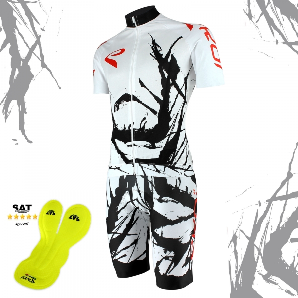 EKOI Limited Edition Cycling Art Jersey & NSAT Bibshort bundle