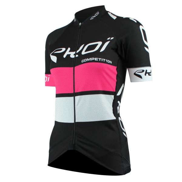 Dametrøje EKOI COMP10 sort, lyserød, hvid