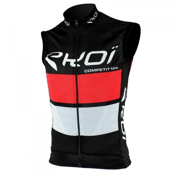 Koszulka bez rękawów EKOI COMP10 Czarno-czerwono-biała