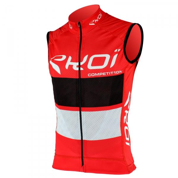 EKOI COMP10 trøje uden ærmer i Rød Sort/Hvid