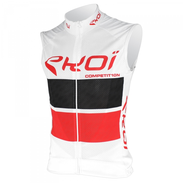 EKOI COMP10 White Red Black sleeveless jersey
