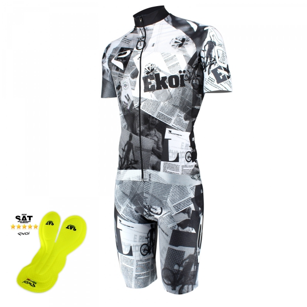 EKOI Gazetta Limited Edition short sleeve jersey and NSAT bibshort bundle