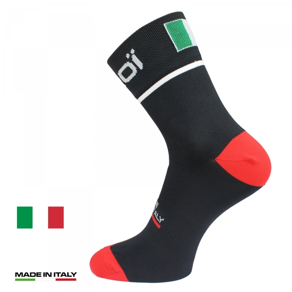 EKOI NATION Black Italy summer cycling socks