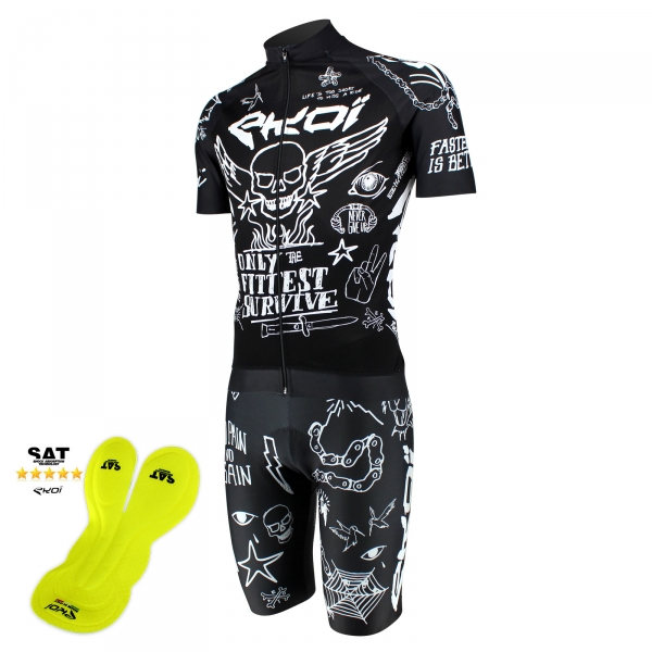 EKOI limited edition LOBOS NSAT bib short & LOBOS short sleeve jersey