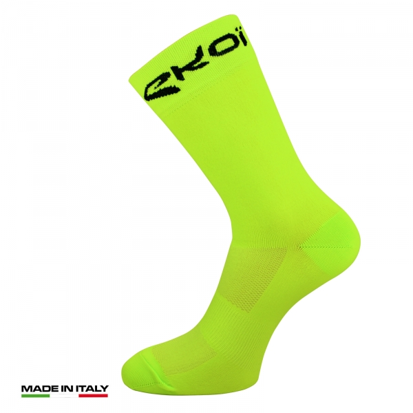 EKOI Sunlight yellow fluo summer cycling socks