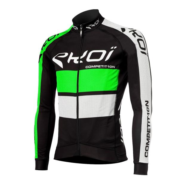 EKOI COMP10 Black / Green long sleeve cycling jersey