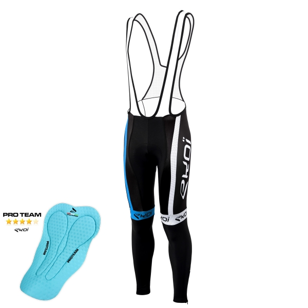 EKOI COMP10 Black / blue bib tights with Proteam pad