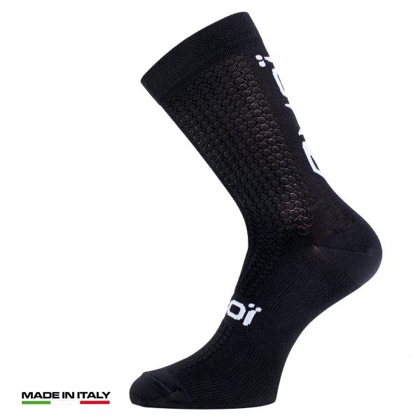 EKOI Black Proteam Autumn Cycling Socks
