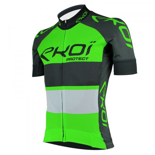 trøje EKOI PROTECT neon grøn/grå