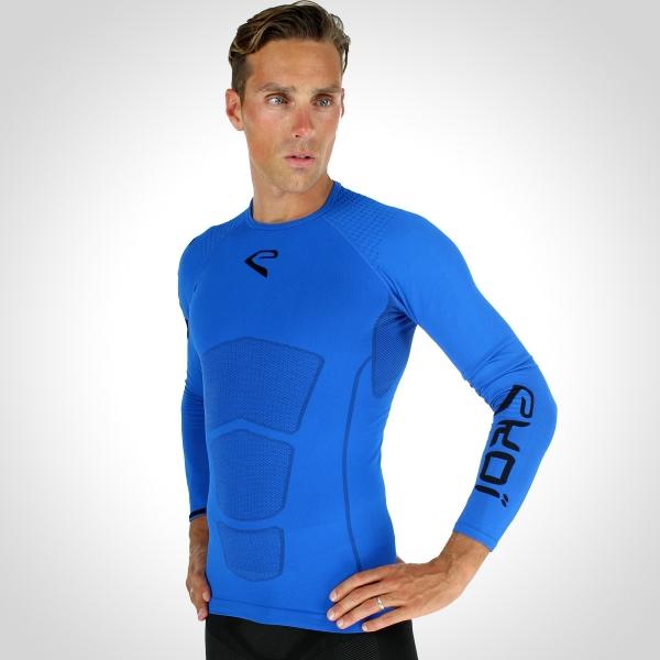 Běžecké tričko EKOI RUN dlouhý rukáv Modrá