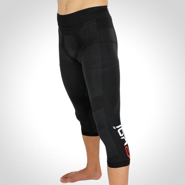 EKOI RUN Black 3/4 running tights