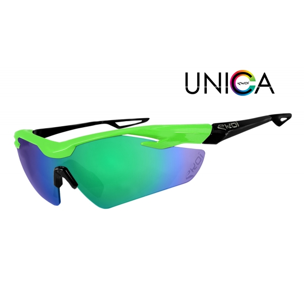 EKOI Limited edition green & black UNICA sunglasses Revo green lens