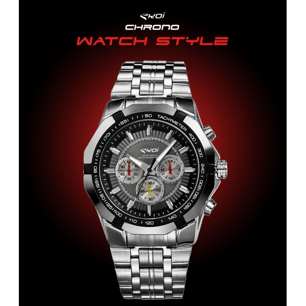 Montre EKOI WATCH STYLE Noir