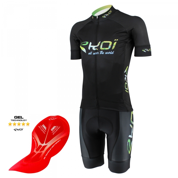 EKOI All Over The World short sleeve jersey and bib short bundle