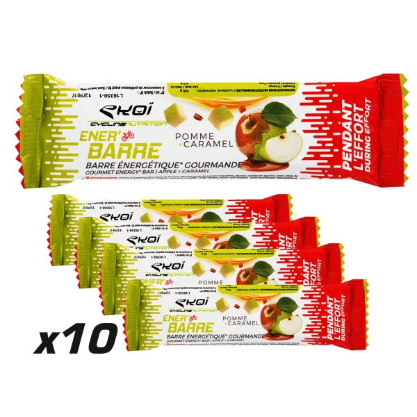 EKOI 10 Apple & Caramel Energy Bars pack
