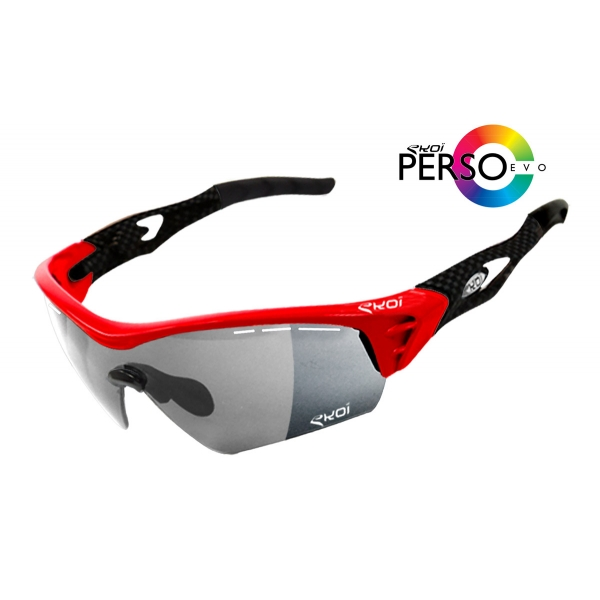 EKOI PERSOEVO2 limited edition Red / Carbon sunglasses categories 1-2 photochromic lens