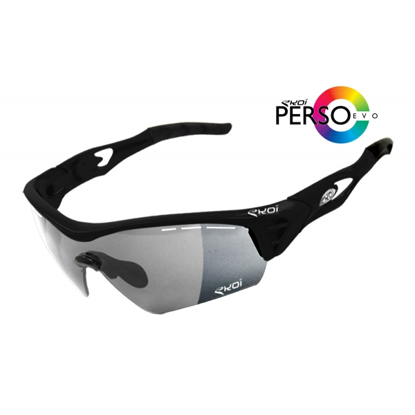 EKOI PERSOEVO2 limited edition Matt black sunglasses categories 1-2 photochromic lens