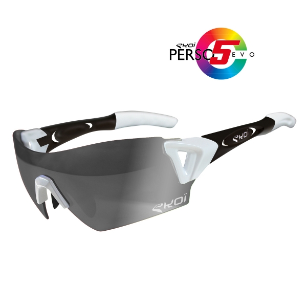 Okulary Persoevo5 EKOI LTD biało-czarny mat PH kat. 1-2