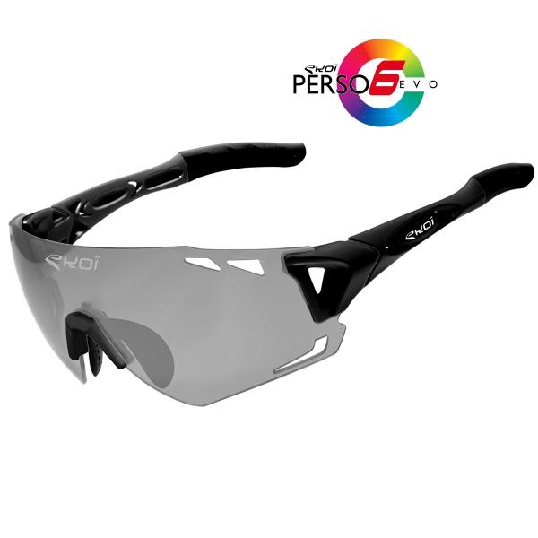 EKOI PERSOEVO6 limited edition Matt black sunglasses Cat1-2 photochromic lens