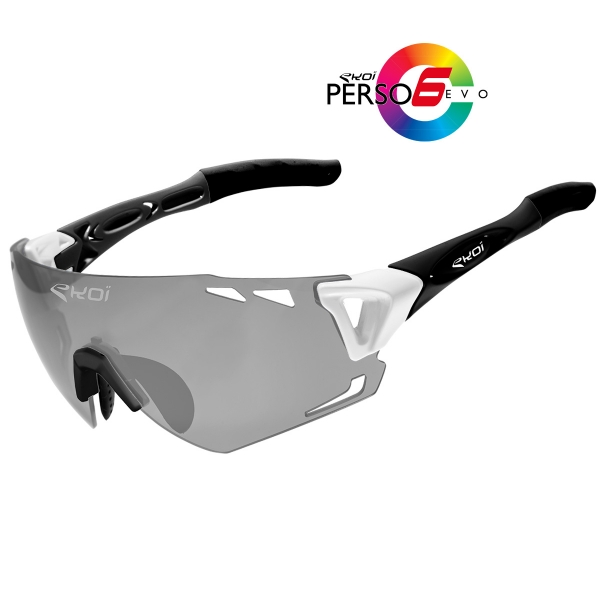 EKOI PERSOEVO6 limited edition White / Matt black sunglasses Cat1-2 photochromic lens