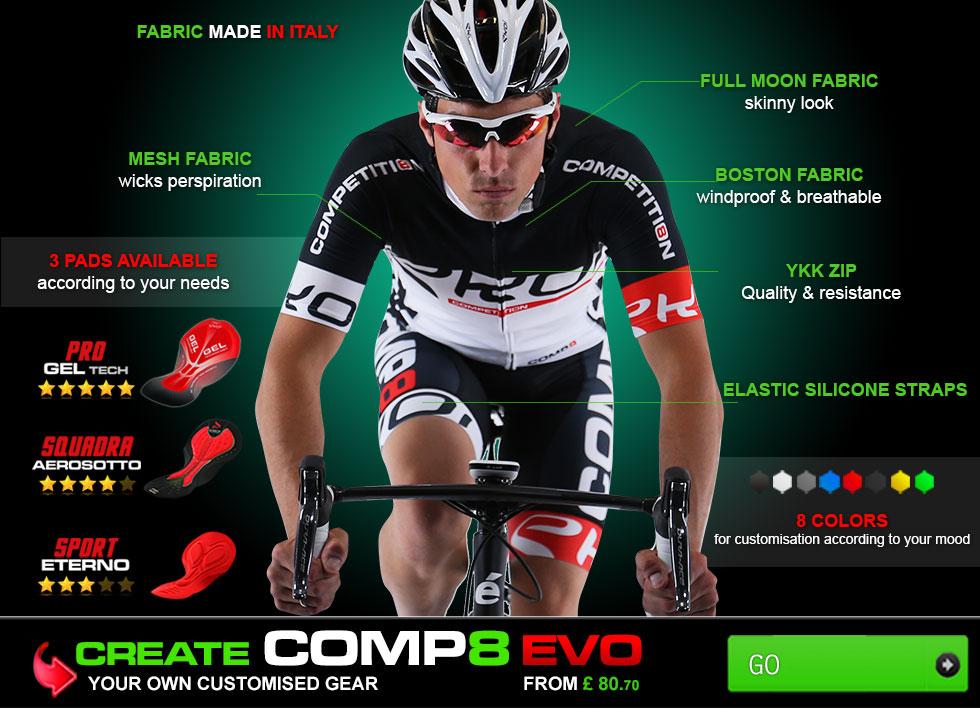 Personnaliser votre tenue vélo EKOI Competition8