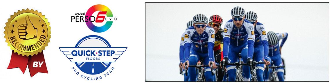 lunettes vélo personnalisées Quickstep Floors EKOI