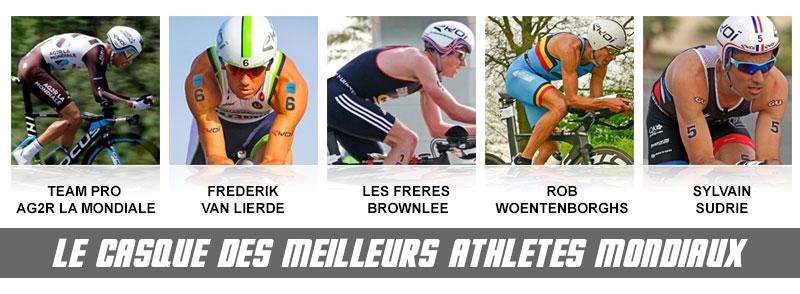 CXR13 Evo porté par les meilleurs athlètes mondiaux routes et triathlon