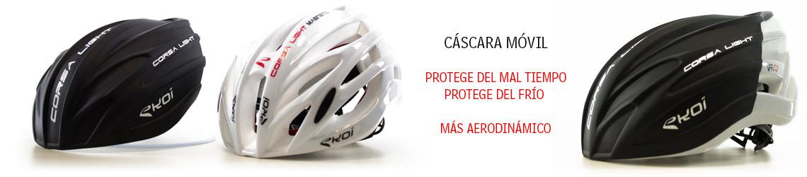 coque amovible casque vélo route Corsa Light EKOI