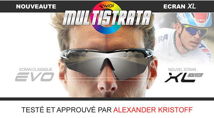 verres XL ecran large lunettes vélo Alexander Kristoff EKOI